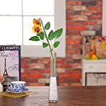 JAROWN-5-pcs-Artificial-Pansy-Silk-Flowers-Moth-Phalaenopsis-Orchid-Arrangement-for-Home-Office-Wedding-DecorationOrange