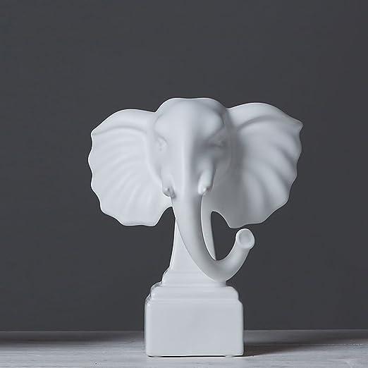 Moderno Blanco y Negro Series Cerámica Elefante Inicio Decoración ...