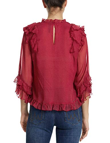 51 288 Kc Cain burgundy Mujer Blusa 36 Multicolor Marc Collections W92 CtOExtqw