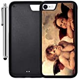 Custom Case Compatible with iPhone 7 (4.7 inch) (The Sistine Madonna Cute Angels) Edge-to-Edge Rubber Black Cover Ultra Slim | Lightweight | Includes Stylus Pen by Innosub