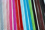 "Polka Dot Grosgrain Ribbon-16 Colors of 3/8"""