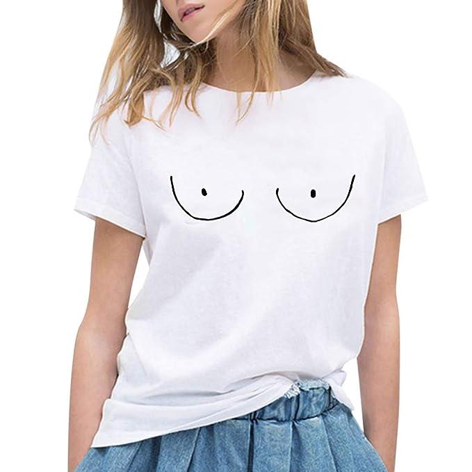 Casual Fitness Blusas T Mujer Mujer Euzeo Manga Shirt De Corta Para Camisas HWwxCqXZTZ