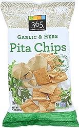 365 Everyday Value, Garlic & Herb Pita Chips, 9 Oz