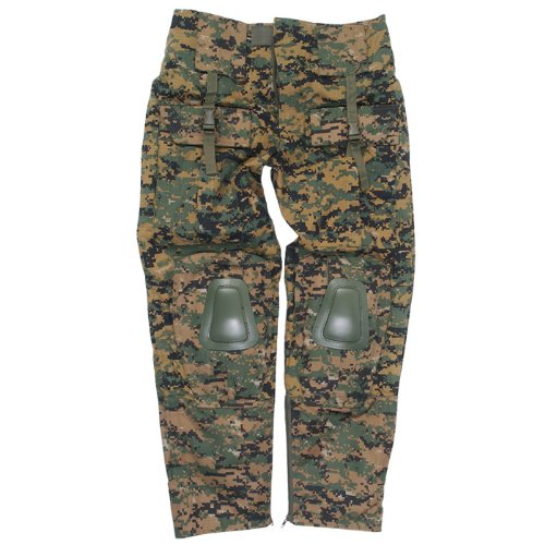 Mil-Tec Warrior Trousers with Knee Pads Digital Woodland size S ()
