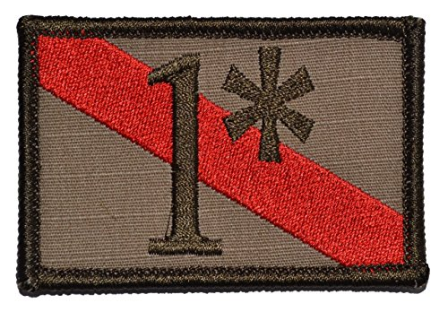 Firefighter One Ass to Risk 1 Thin Red Line 2x3 Morale Patch - Coyote Brown