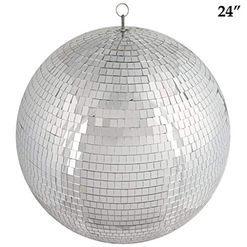 Tableclothsfactory 24'' Groovy Glass Mirror Disco Ball Party Decoration for Wedding Event Birthday Party by Tableclothsfactory (Image #3)