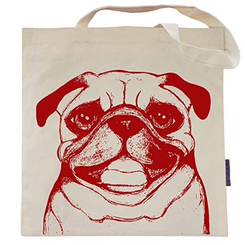 Bag Pug - Ruby the Pug Tote Bag by Pet Studio Art