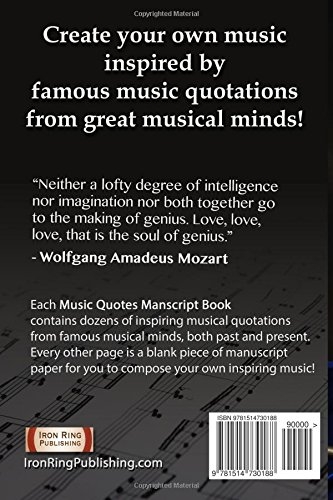 Amazon Com Great Music Quotations Journal Vol 2 Inspirational