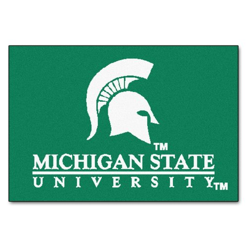 (FANMATS NCAA Michigan State University Spartans Nylon Face Starter Rug)