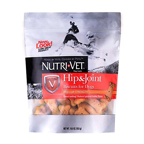Nutri-Vet Wellness Hip and Joint Level One Small and Medium Dog Treat [Set of 2] Flavor: Peanut Butter