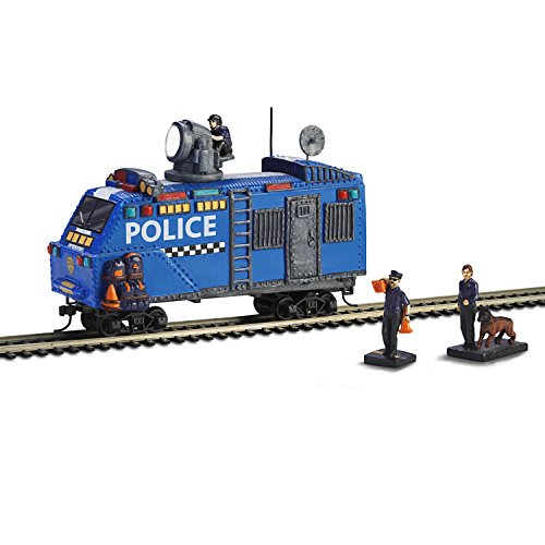Hawthorne Village HO Scale Railway Police Armored Train Car with Two - Scale Ho Police