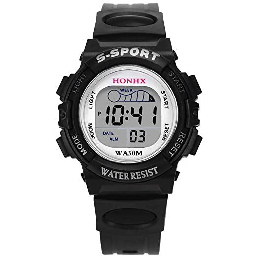 Niños Digital Relojes Deportivos,Niños Impermeable Deporte Reloj con Alarma Cronómetro, Niños Impermeable Al