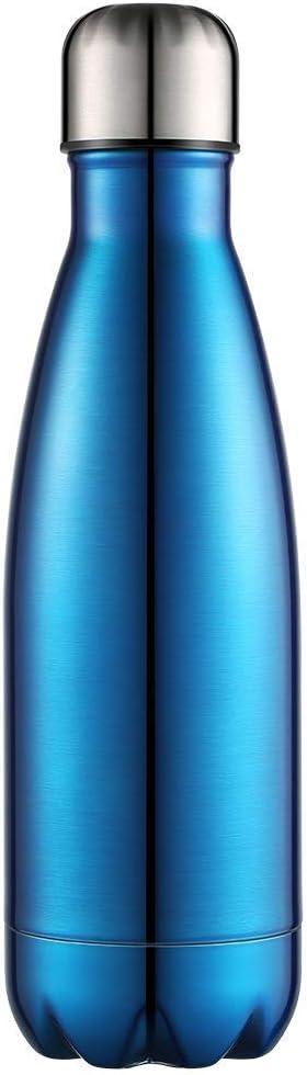 Anjoo Botella de Agua 350 ML, Deportes al Aire Libre Botella Agua Acero Inoxidable con Doble Pared Aislada al Vacío Botella, Aluminio Botella térmica para Bebidas frías y Calientes (océano Azul)