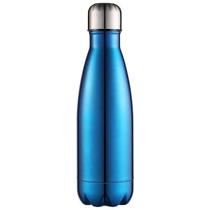Anjoo Botella de Agua 750 ML, Deportes al Aire Libre Botella Agua Acero Inoxidable con Doble Pared Aislada al Vacío Botella, Aluminio Botella térmica ...