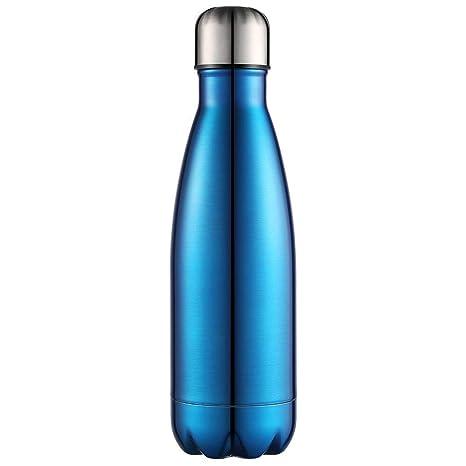 Anjoo Botella de Agua 350 ML, Deportes al Aire Libre Botella Agua Acero Inoxidable con Doble Pared Aislada al Vacío Botella, Aluminio Botella térmica ...