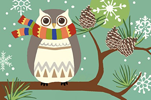 Jellybean Rug - Winter Owl