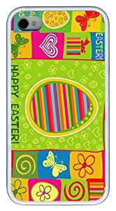 IMARTCASE iPhone 4S Case, Colorful Happy Easter Case for Apple iPhone 4S/5 TPU - White by lolosakes by lolosakes