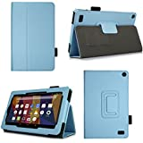 Case for All-New Fire 7 2017 - Premium Folio Case for All-New Fire 7 Tablet with Alexa 7th Generation - (Light Blue)