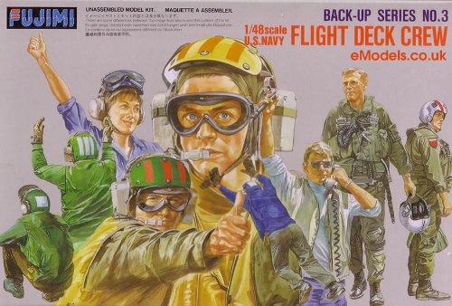 (Fujimi 1/48 U.S. Navy Flight Deck Crews Set )