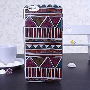 QJM National Style Color Pattern Plastic Hard Cover for iPhone 6 Plus