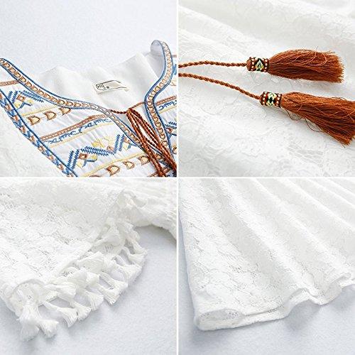 L'envoi 2018 Jupe Harajuku Juin Femme Perdre en Nouvelle Blanche Mode d't no Robe 7 la Jupe 3 White MiGMV Dentelle Robes CZqWg