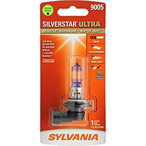 SYLVANIA 9005 SilverStar Ultra High Performance Halogen Headlight Bulb, (Contains 1 Bulb)