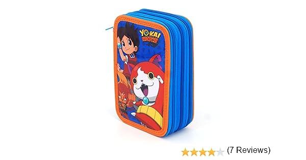 Yo-Kai Watch – Estuche con 3 cremalleras: Amazon.es: Oficina y papelería