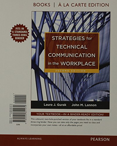 Strategies for Technical Communication in the Workplace (Books a la Carte)