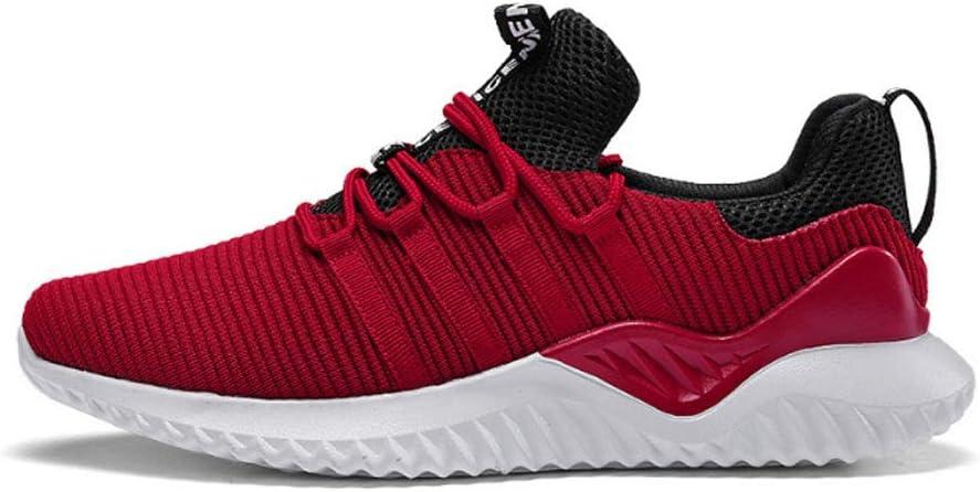 YSZDM Zapatos de Running de los Hombres, Volando Zapatos de Deportes Tejidos Antideslizante Resistente al Desgaste Transpirable Malla Desodorante Plantillas al Aire Libre Zapatillas de Running,Red,40: Amazon.es: Hogar