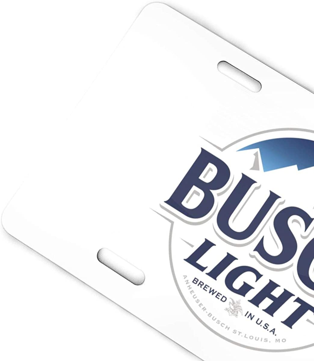 Qq15-kcdds-store Busch Light Decorative Car Front License Plate,Vanity Tag,Metal Car Plate,Aluminum Novelty License Plate for Men//Women//Boy//Girls Car,6 X 12