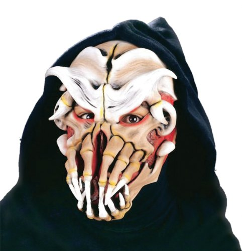 Costume Mask: Nightmare On Belmont Ave - Product Description - Latex Rubber Face Mask With Attached Fabric Hood. Elastic Straps Provide A Comfortable Secure Fit. One Size Fits Most Adults. ...