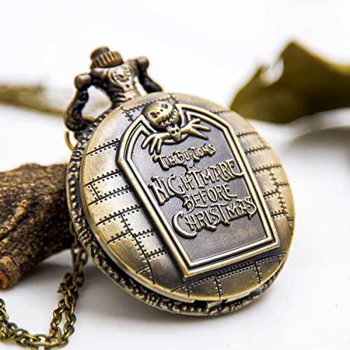 usongs Queen City Christmas night retro pocket watch necklace pendant jewelry fashion sweater chain necklace pendant watch fashion - City Chain Watches