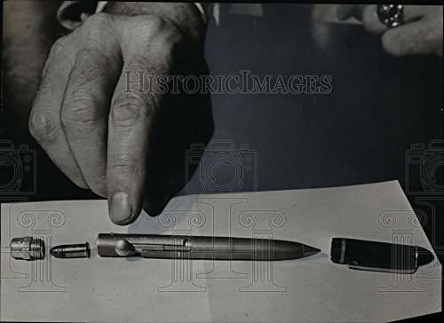 Vintage Photos 1959 Press Photo Pen gun parts - orb87244