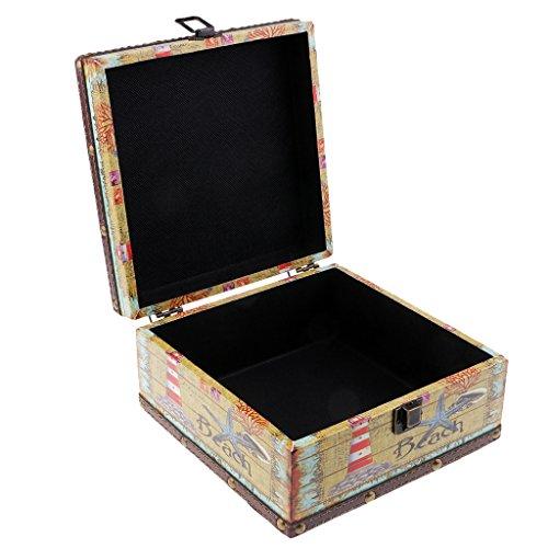 kesoto Diseño Vintage Caja de Madera Almacenaje de Joyería Collar Artículos de Escritorio Estilo Europeo Recuerdo Dulce...