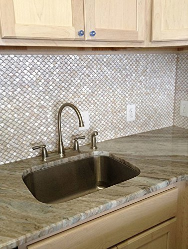 Mermaid and fish scale tile ideas for bathrooms and kitchens for Fish scale backsplash