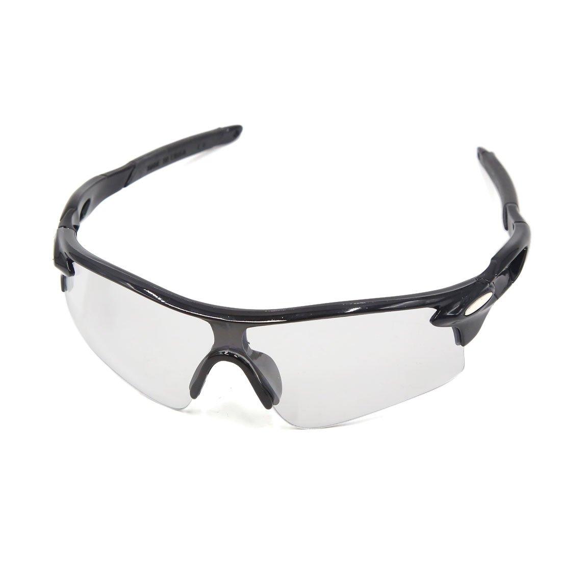 sourcingmap Medio Marco Negro Gafas de Ciclista Bicicleta MTB Lente Transparente a17021700ux0933