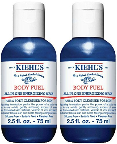 KiehI's Body Fuel All In One Energized Wash Deluxe Travel Size, Set of 2