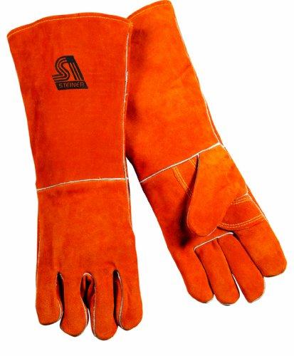 Steiner 21918-X Welding Gloves, Brown Y-Series 18-Inch Length Shoulder Split Cowhide, Foam Lined, Extra Large
