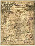 Atlanta, Georgia 1864 - Civil War City Map By Sneden Reprint