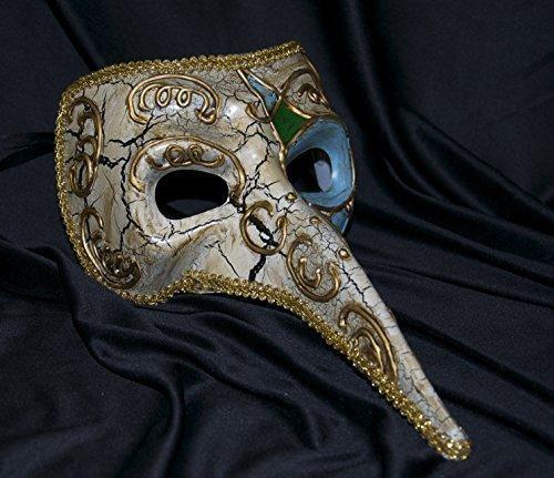 Herren-Maske mit langer Nase von The Rubber Plantation, venezianische Maske für Maskenball, Party, Ball, zum Verkleiden, Kostüm-Accessoire, auch für Damen geeignet, Einheitsgröße Kostüm-Accessoire auch für Damen geeignet Einheitsgröße The Rubber Plantation