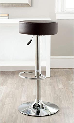 Safavieh Home Collection Jude Brown Adjustable Swivel Gas Lift 25.6-31.5-inch Bar Stool