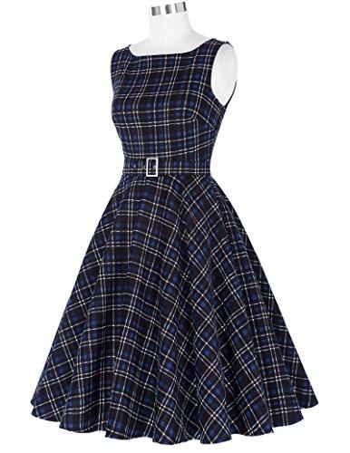 de Mujeres Belle Vestidos Vintage Cócteles Años Floral 50 16 Swing nbsp;Fiesta De Poque® bp02 FUwUaxqz