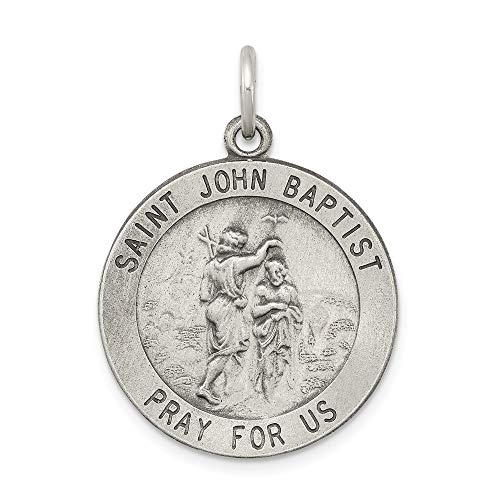925 Sterling Silver Saint John The Baptist Medal Pendant Charm Necklace Religious Patron St Fine Jewelry Gifts For Women For Her