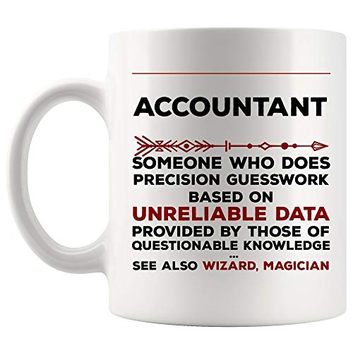 Definition Meaning Accountant Mug Best Coffee Cup Gift Precision Gesswork Base On Unreliable Data | CPA Certified Public Accounting World Most Tax Preparer Season IRS Secretary Funny Gifts