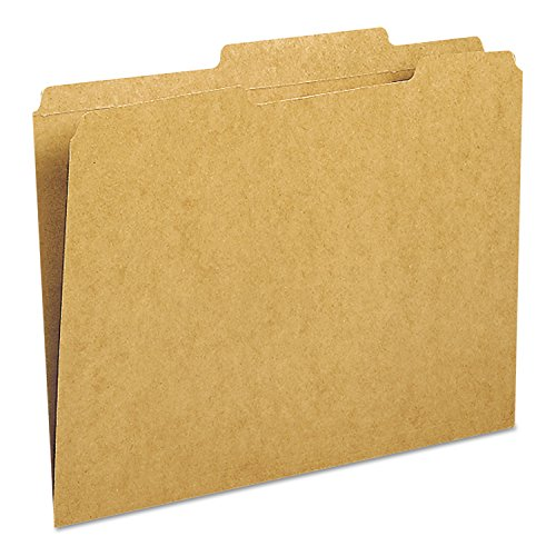 Smead 10776 Kraft File Folder 2/5 Cut Right Two-Ply Top Tab Letter Kraft 100/Box