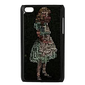 Alice In Wonderland, Custom ipod touch 4th Case, Cover Hardshell Plastic For ipod touch 4