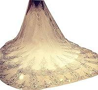 Fenghuavip 1T 3 Meters Ivory Wedding Vei...