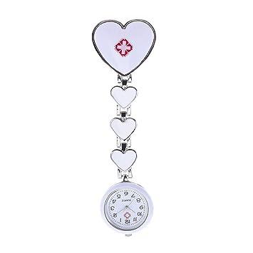 NIGHT WALL Enfermeras Doctores, Encantador Ángel Blanco Enfermeras Reloj Hora médico CD Cofre Bolsillo Reloj Reloj Hora Marea Reloj Femenino Reloj niños ...