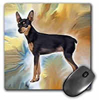 3dRose LLC 8 x 8 x 0.25 Inches Mouse Pad, Miniature Pinscher (mp_3968_1)