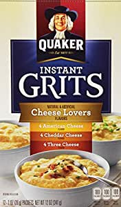 Quaker Instant Grits Cheese Lovers, Variety Pack, 12 Packets